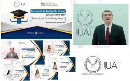 Realiza Trabajo Social UAT ceremonia virtual