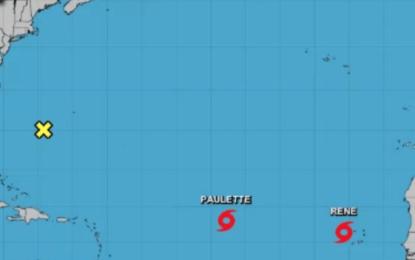 Se forman en el Atlántico las tormentas Paulette y Rene